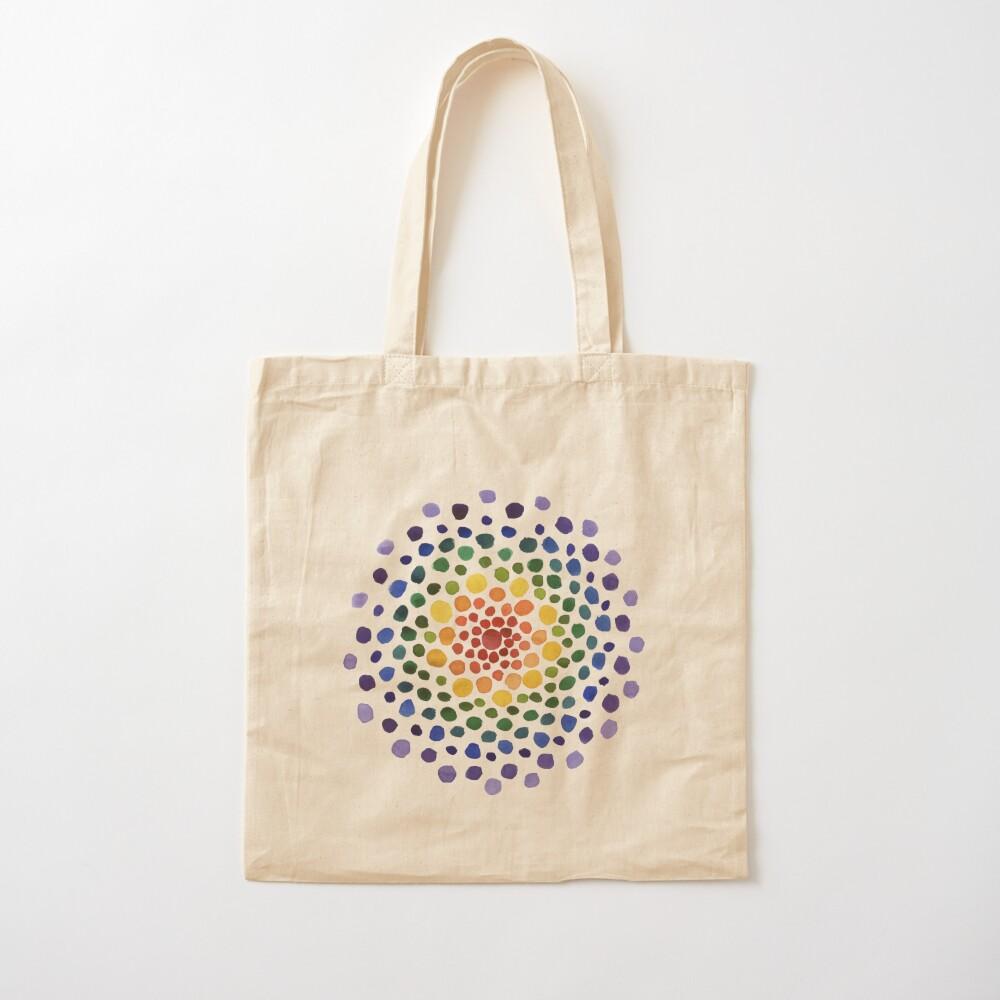 Circle Mosaic - Rainbow Cotton Tote Bag