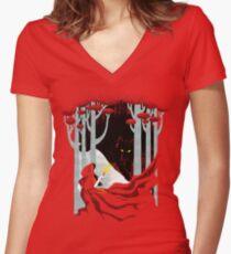 Camiseta entallada de cuello en V En el bosque