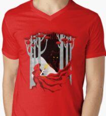 In den Wald T-Shirt mit V-Ausschnitt für Männer