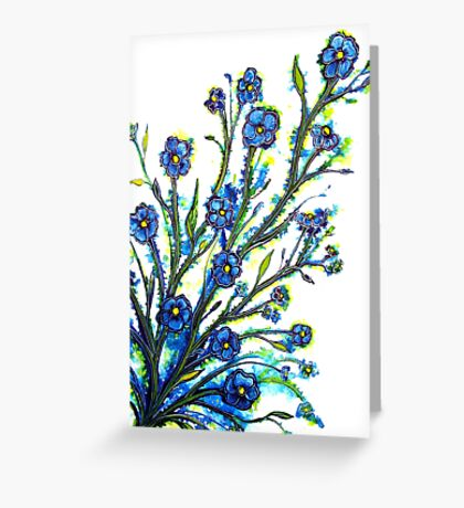 Forget-Me-Not - Flowers Greeting Card