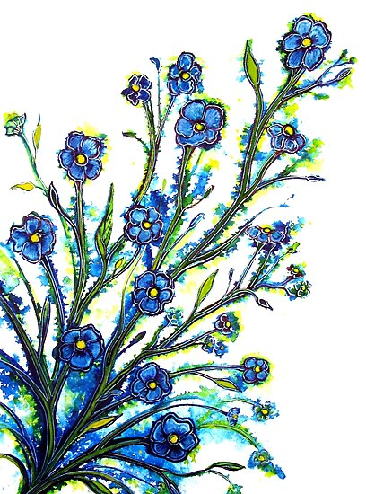 Forget-Me-Not - Flowers by Linda Callaghan