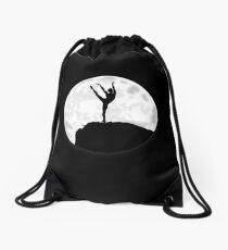 Male Ballet Dancer Under The Moon Drawstring Bag