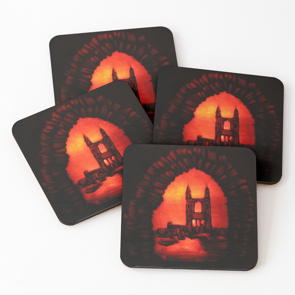 St Andrews Cathedral Pumpkin Carving Coasters (Set of 4)
