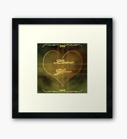 Smoke heart Framed Print