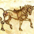 Steampunk Unicorn Sketch by redrevvy