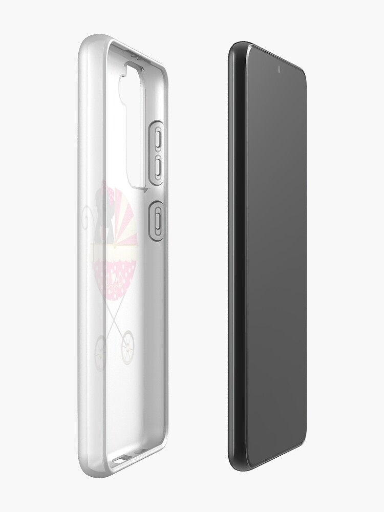 Alternate view of Newfie Baby Girl Case & Skin for Samsung Galaxy