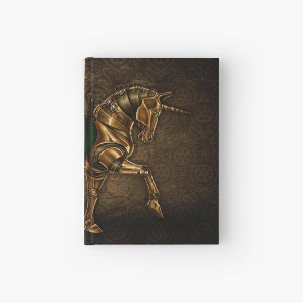 Steampunk Unicorn Damask Hardcover Journal
