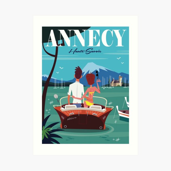 Lac d'Annecy poster Art Print