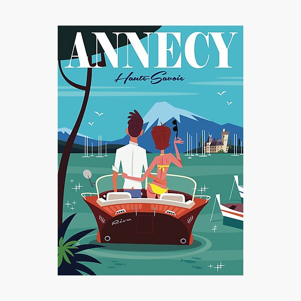Lac d'Annecy poster Photographic Print