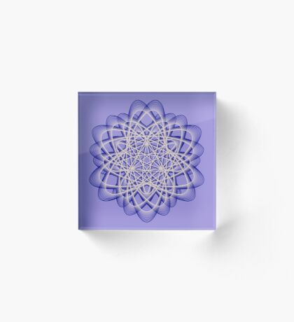 Abstract Dark Blue Violet Atomic Swaps Acrylic Block