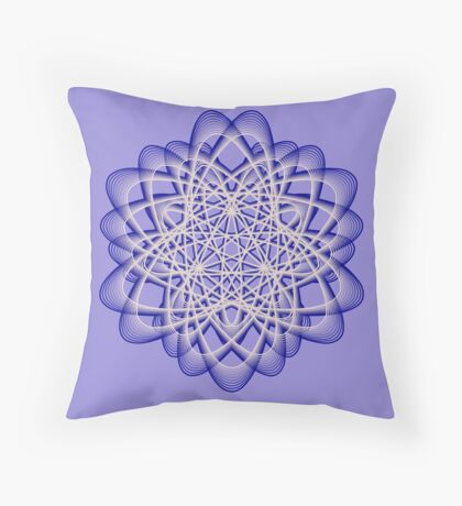 Abstract Dark Blue Violet Atomic Swaps Throw Pillow