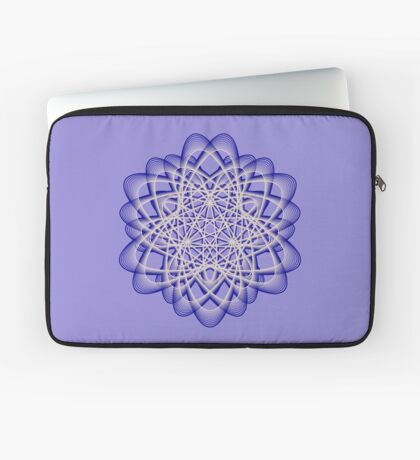 Abstract Dark Blue Violet Atomic Swaps Laptop Sleeve