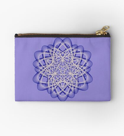 Abstract Dark Blue Violet Atomic Swaps Zipper Pouch