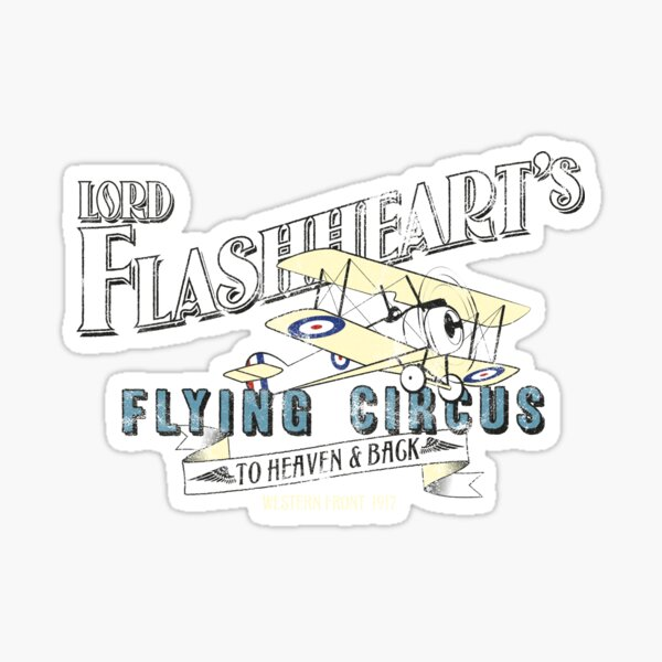 Flashheart's Flying Circus Sticker