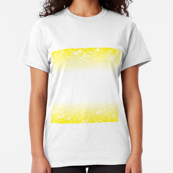 Abstract Yellow Line Background. Grunge Yellow Line Pattern Classic T-Shirt