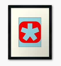 Choose the color of your clan (plain red) Framed Print