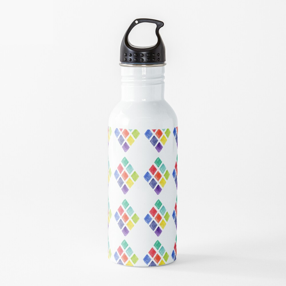 Painted Argyle Water Bottle