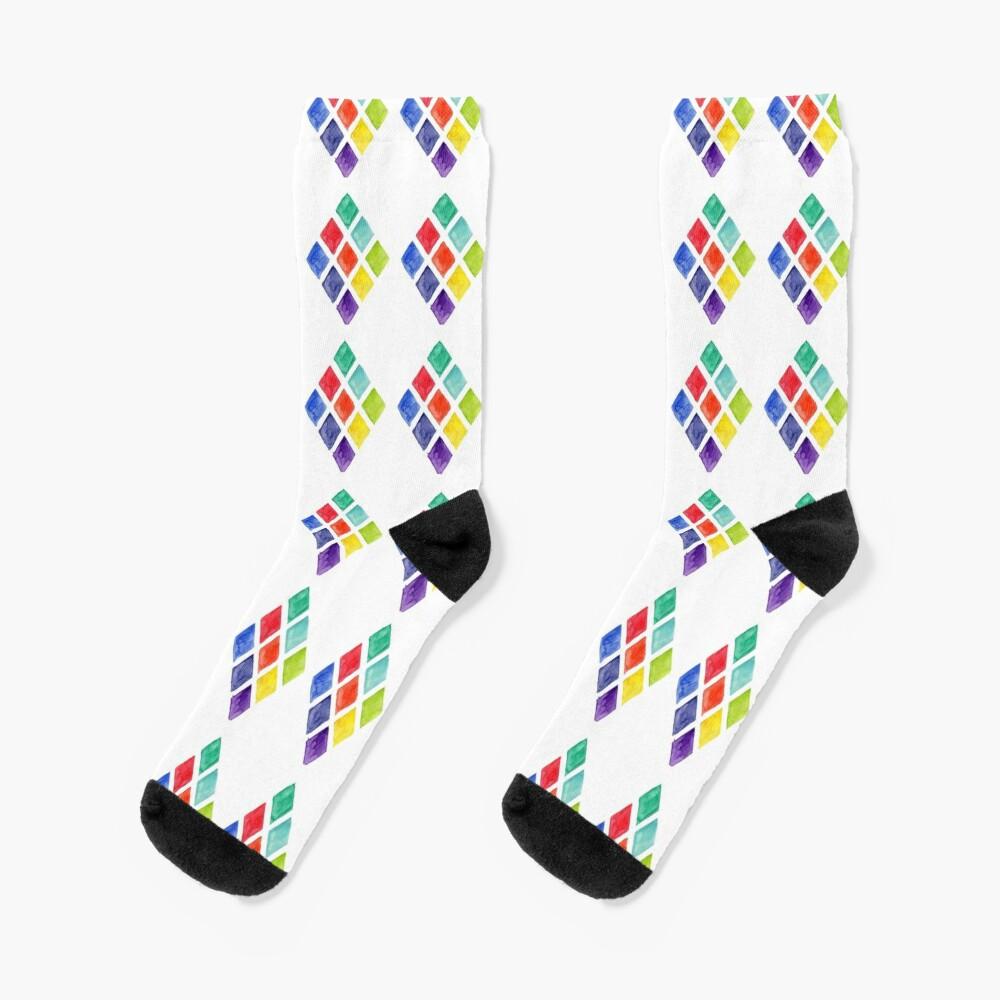 Painted Argyle Socks