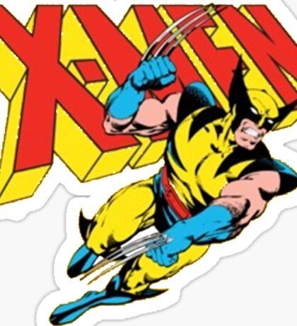 X-Men Wolverine Retro Comic Sticker