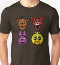 Five Nights at Freddy's 1 - Pixel art - The Classic 4 Unisex T-Shirt