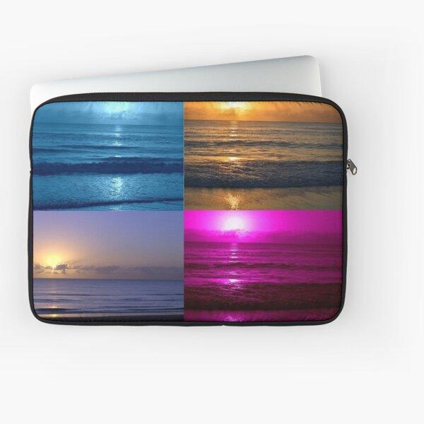 Sunrise Blue Pink Purple & Natural Gold Coast Australia Laptop Sleeve