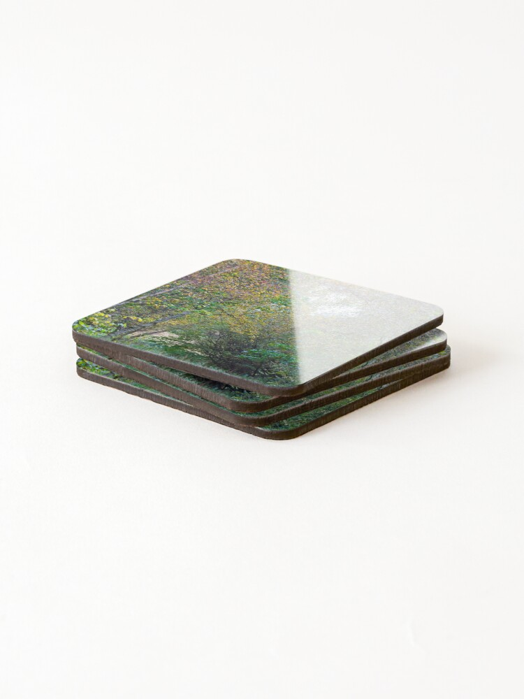 Alternate view of Autumnal Leaf Colours in Woodland Trees Coasters (Set of 4)