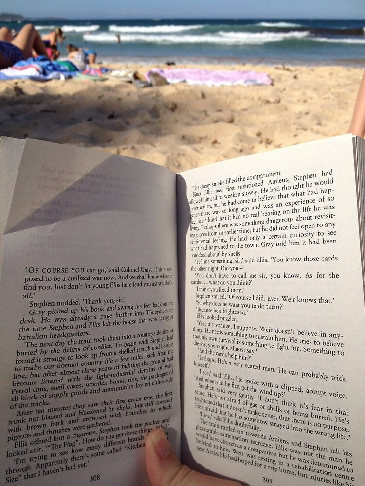 Books at Beach by amazingartistic