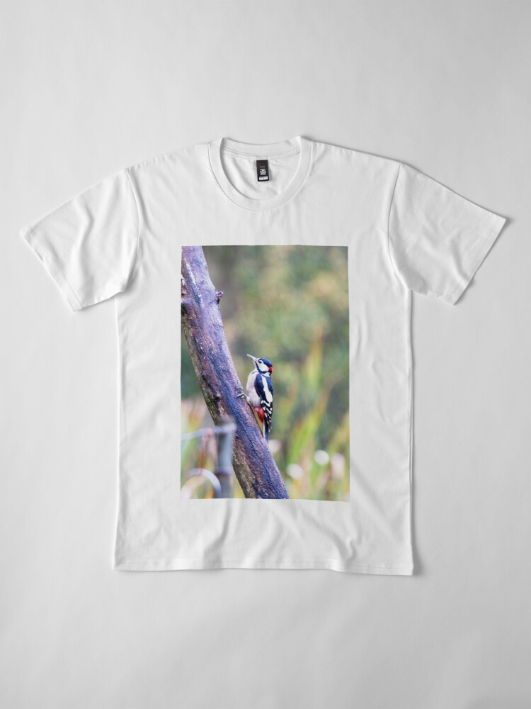 Alternate view of Great Spotted Woodpecker (Dendrocopos major) Premium T-Shirt