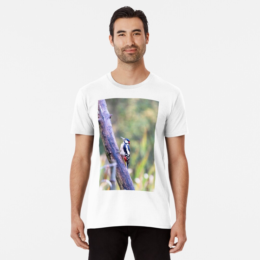 Great Spotted Woodpecker (Dendrocopos major) Premium T-Shirt