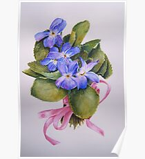 Bouquet for Judi Watercolour Painting Poster