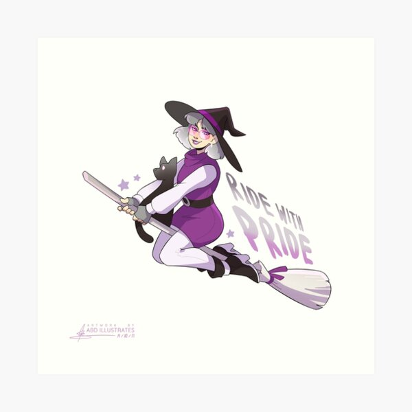 Ride with Pride - Asexual Art Print