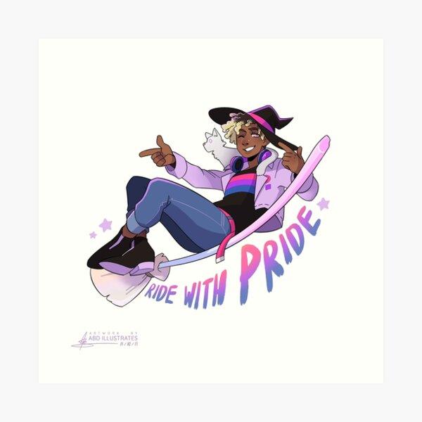 Ride with Pride - Bi Art Print