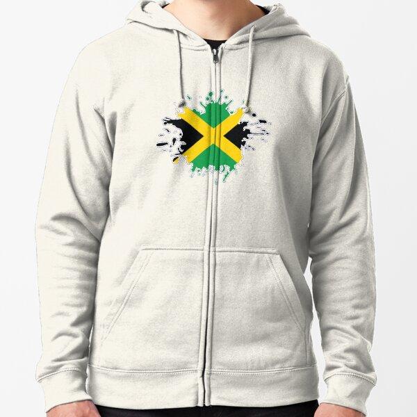 Jamaica Flag Distressed Jamaican National Pride Olympics Hoodie Pullover