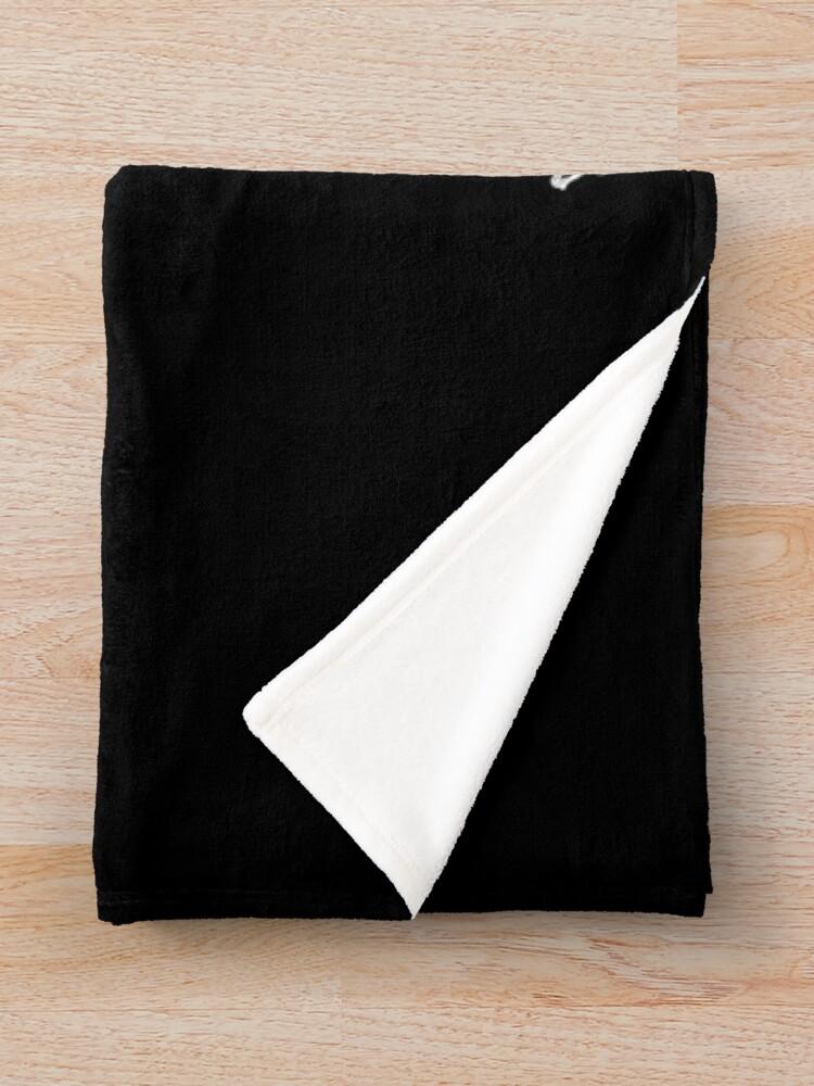 Alternate view of Raven #1 on black  Throw Blanket