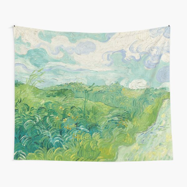 Green Wheat Fields Auvers Vincent Van Gogh 1890 Tapestry