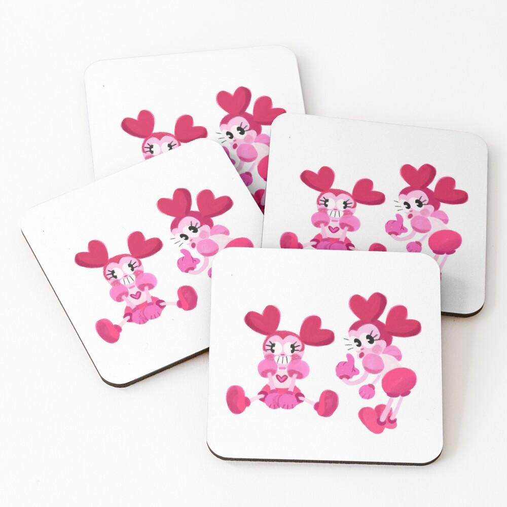 Goofy Spinel Coasters (Set of 4)