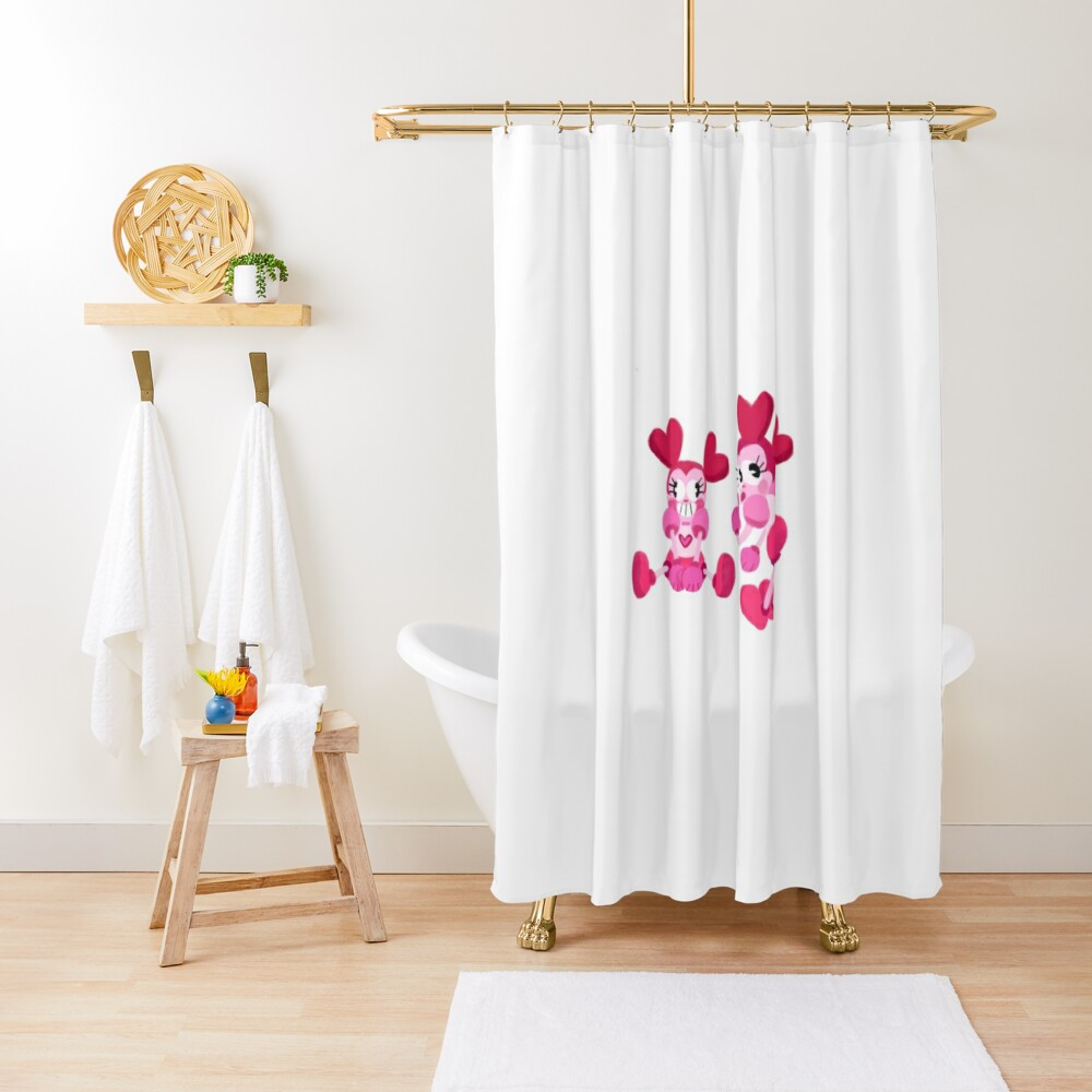 Goofy Spinel Shower Curtain