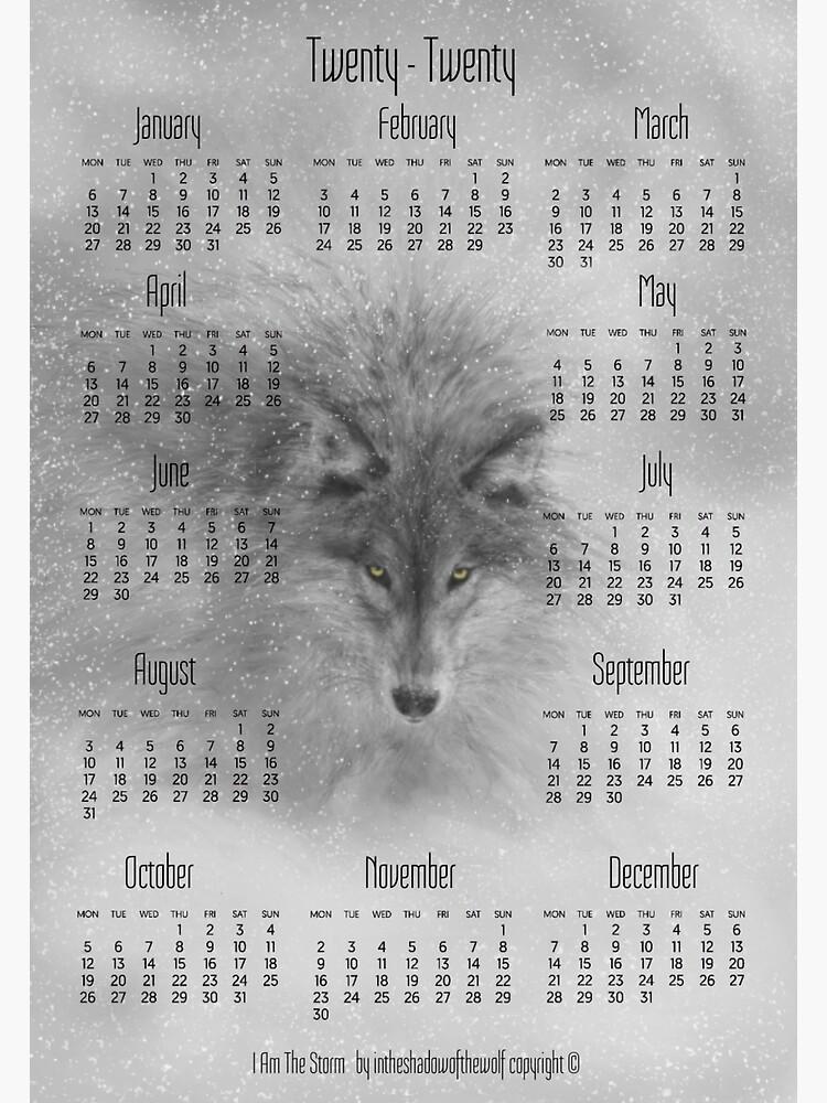 I Am The Storm 2020 Calendar by WolfShadow27