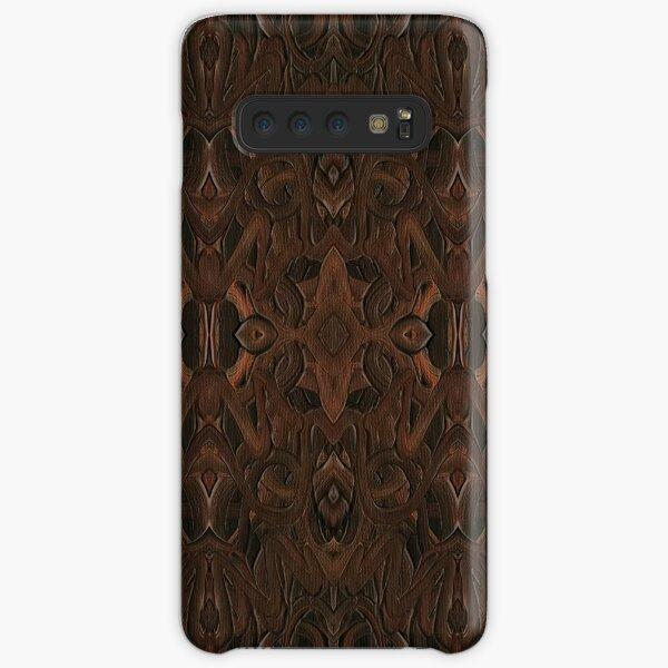 Carved Walnut Wood Samsung Galaxy Snap Case