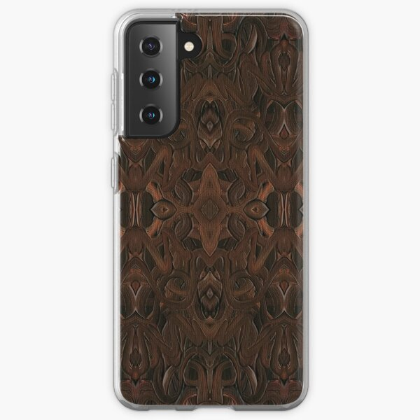 Carved Walnut Wood Samsung Galaxy Soft Case