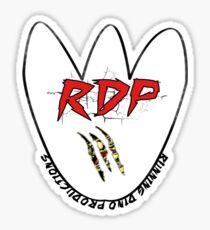 Running Dino Productions tee Sticker