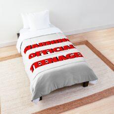 Warning Official Teenager Comforter