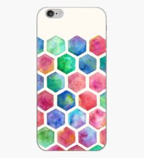 Hand Painted Watercolor Honeycomb Pattern iPhone Case