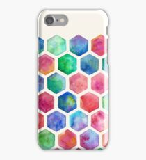 Hand Painted Watercolor Honeycomb Pattern iPhone Case/Skin