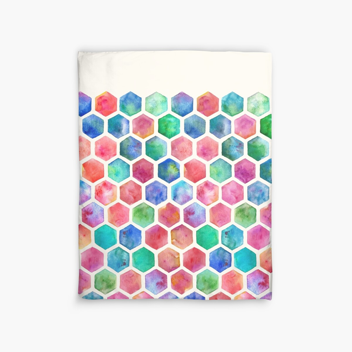 Quot Hand Painted Watercolor Honeycomb Pattern Quot Duvet Covers