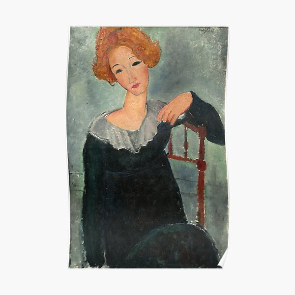 Femme aux cheveux rouges Amedeo Modigliani 1917 Poster