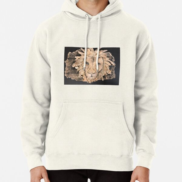Untamed Lion Face Pullover Hoodie