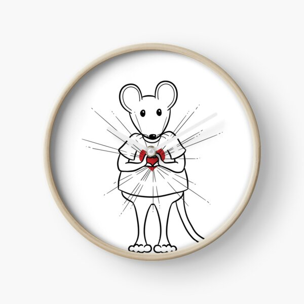 MantraMouse® Sending Out Love Cartoon Clock