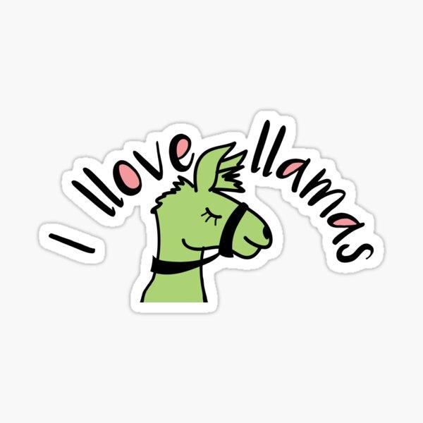 I Love Llamas Sticker
