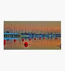 Boats and Bouys Photographic Print